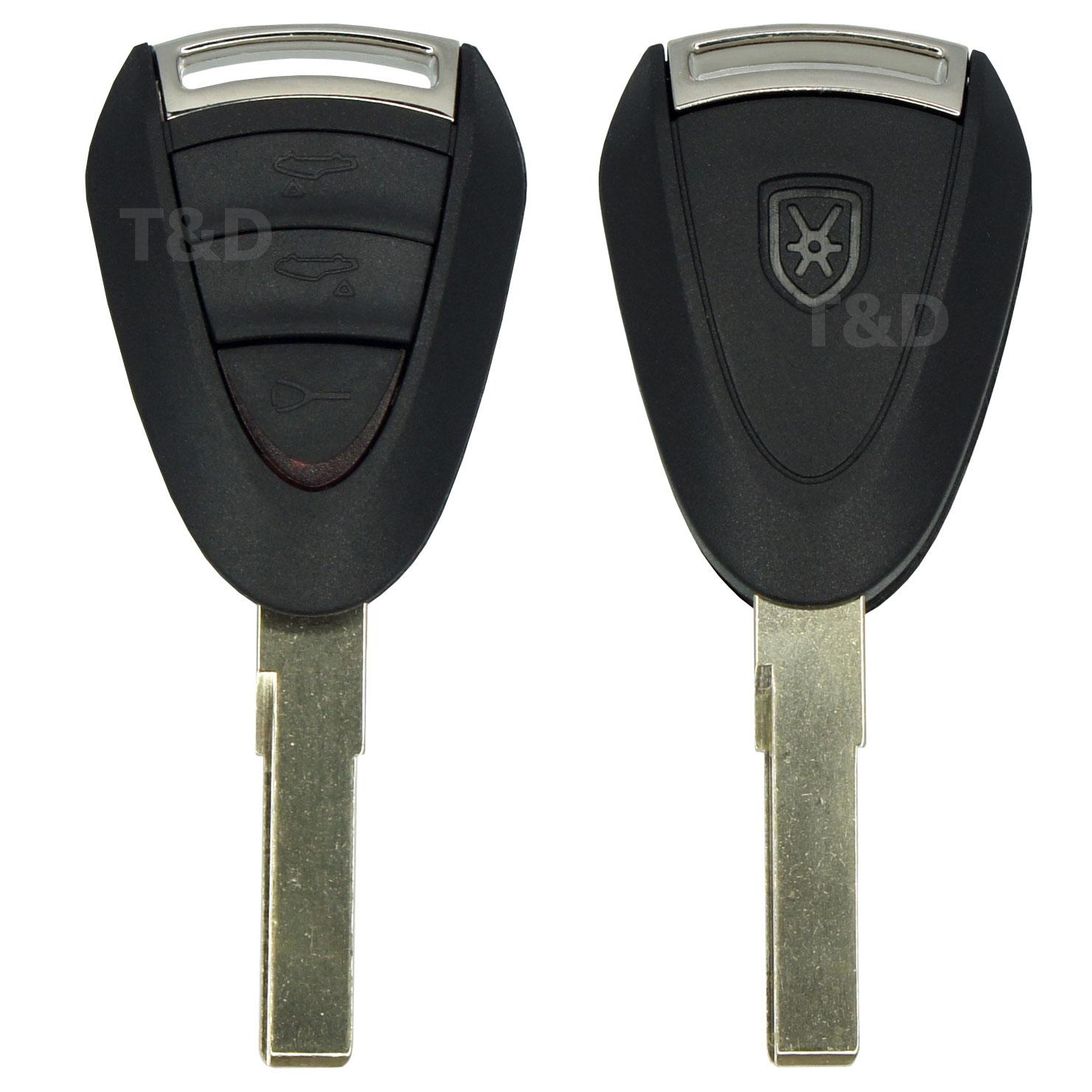 Porsche 3 Tasten Schlüssel mit Rohling