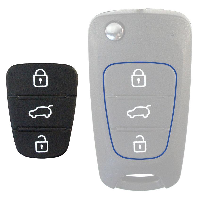 Tastenfeld Hyundai & Kia- 3 Tastenfeld für Klappschlüssel