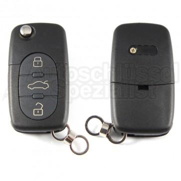 Audi- 3 Tasten Klappschlüssel Batteriefach (groß CR20 2032)