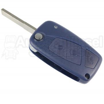 Fiat- 3 Tasten Klappschlüssel (Blau) m. Rohling (SIP22)