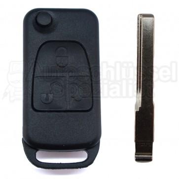 Mercedes Benz 3 Knöpfe Klappschlüssel mit Schlüsselrohling HU44