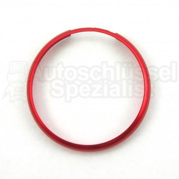 Mini- Schlüsselgehäuse Ring in Rot für Fahrzeugschlüssel