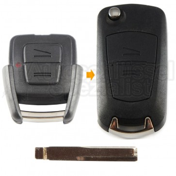 Umbaukit von 2 Tasten starren Fahrzeugschlüssel zu Klappschlüssel