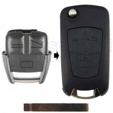 Opel- 3 Tasten Umbaukit mit Schlüsselrohling HU100