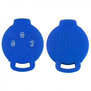Silikon Hülle für Smart 3 Tasten Autoschlüssel in Dunkelblau