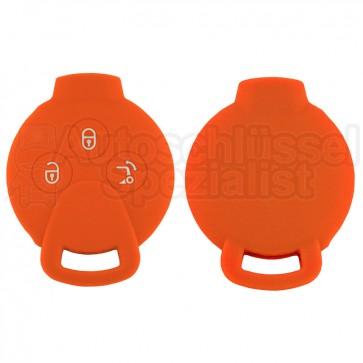 Silikon Hülle für Smart 3 Tasten Autoschlüssel in Orange