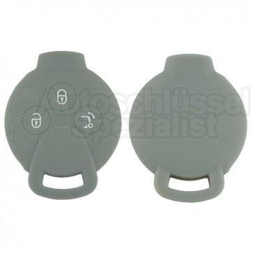 Silikon Hülle für Smart 3 Tasten Autoschlüssel in Grau