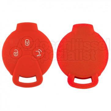 Silikon Hülle für Smart 3 Tasten Autoschlüssel in Rot