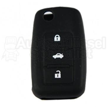 Schlüsselhülle aus Silikon in Schwarz für Volkswagen Skoda und Seat Autoschlüssel