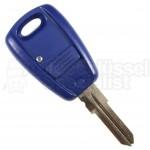 Fiat- 1 Tasten Schlüssel (Blau) m. Rohling (GT15)