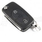 VW Skoda Seat 2 Tasten Klappschlüssel (Batterie CR20) Rohling HAA