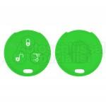 Silikon Hülle für 450 Smart 3 Tasten Autoschlüssel in Grün