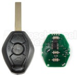 BMW- 3 Tasten Schlüssel m. Rohling HU92 434 Mhz mit ID44