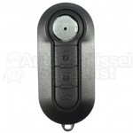 Fiat- 3 Tasten Klappschlüssel (Schwarz) mit Schlüsselrohling (SIP22)