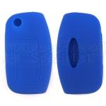 Silikon Hülle für Ford mit 3 Tasten Klappschlüssel in Blau