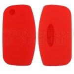 Silikon Hülle für Ford mit 3 Tasten Klappschlüssel in Rot