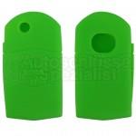 Silikon Hülle für Mazda 2 Tasten Klappschlüssel in Grün