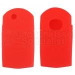 Silikon Hülle für Mazda 2 Tasten Klappschlüssel in Rot