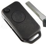 Mercedes Benz mit 1 Taste Klappschlüssel und Schlüsselrohling HU44