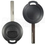 Smart-  2 Tasten Fahrzeugschlüssel mit Schlüsselrohling