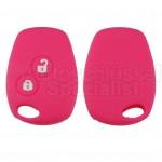 Pinke Schlüssel Silikonhülle für Renault Fahrzeugschlüssel