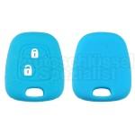 Silikon Hülle für Peugeot oder Citroen 2 Tasten Autoschlüssel in Blau
