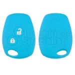 Silikon Hülle für Renault 2 Tasten Autoschlüssel in Blau