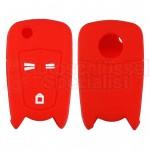 Silikon Hülle für Opel mit 3 Tasten Klappschlüssel in Rot