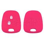 Silikon Hülle für Peugeot oder Citroen 2 Tasten Autoschlüssel in Pink