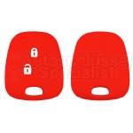 Silikon Hülle für Peugeot oder Citroen 2 Tasten Autoschlüssel in Rot