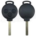 Smartschlüssel komplett mit Elektronik und Transponder für Smart 451