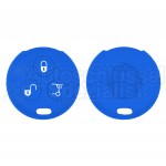 Silikon Hülle für 450 Smart 3 Tasten Autoschlüssel in Blau