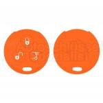 Silikon Hülle für 450 Smart 3 Tasten Autoschlüssel in Orange