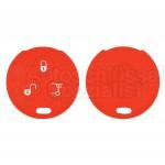 Silikon Hülle für 450 Smart 3 Tasten Autoschlüssel in Rot