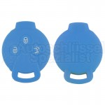 Silikon Hülle für Smart 3 Tasten Autoschlüssel in Himmelblau