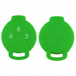 Silikon Hülle für Smart 3 Tasten Autoschlüssel in Grün