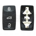 VW, Skoda, Seat - eckig, 3T Tastenfeld Modern für Klappschlüssel
