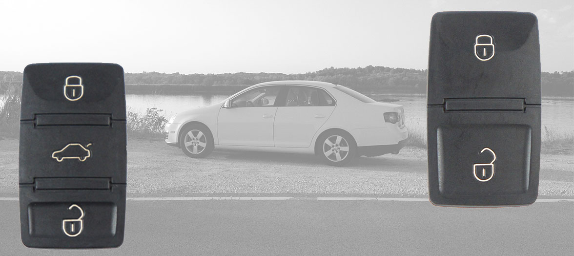 Volkswagen Tastenfelder 2 und 3 Tasten Klappschlüssel