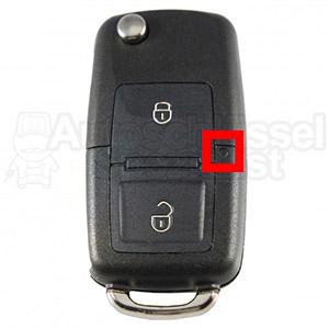 Klappschlüssel Skoda VW LED Mittig